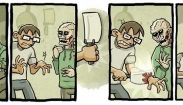 """Смешной мини-комикс про """"зомби"""""""