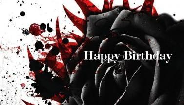Happy Birthday Black Rose #2