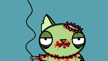 Happy Birthday Zombie Kitty