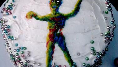 Happy Zombie Birthday Cake