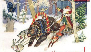 Советская открытка С Новым годом!