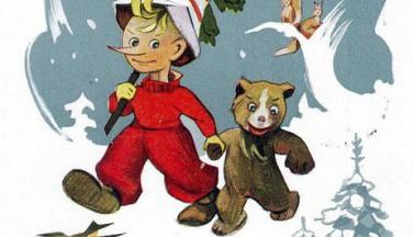 Буратино, медведь и елочка