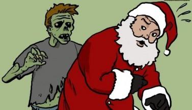 Zombie vs Santa