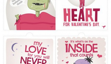 Happy Zombie Valentine's Day Postcards
