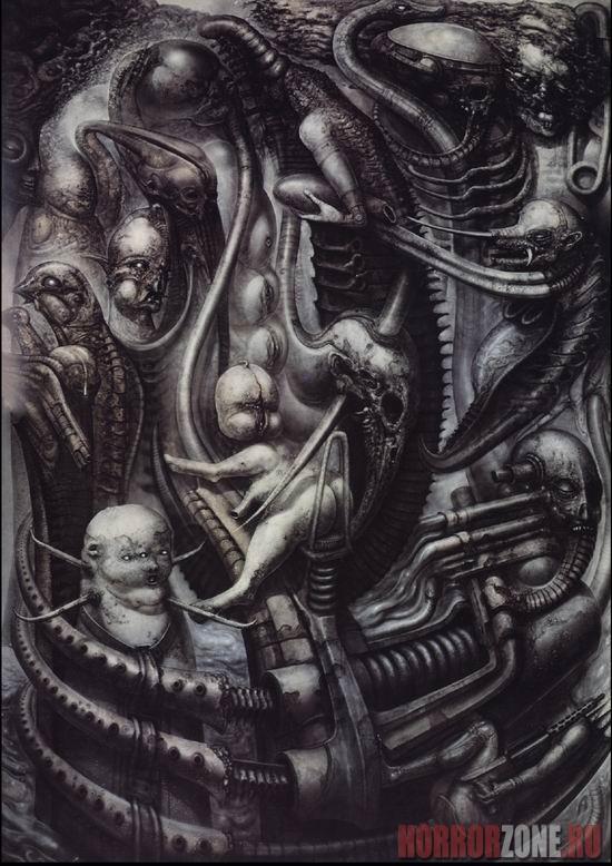 Ганс Рудольф Гигер. Картины: horrorzone.ru/page/gans-rudolf-giger-kartiny