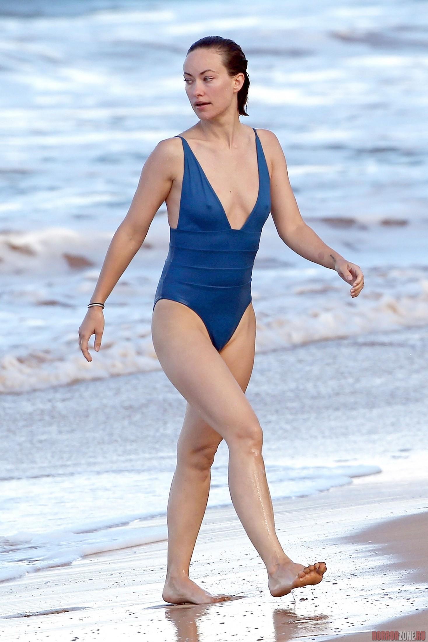 Оливия Уайлд, папарацци-фото в купальнике