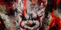 """Кровавый Пеннивайз анонсирует выставку арта по мотивам """"Оно"""""""