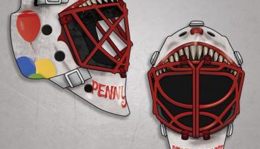 Художники превращают хоккейные шлемы в хоррор-атрибутику