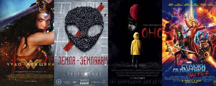 самые кассовые фильмы 2017 года в прокате сша россии и