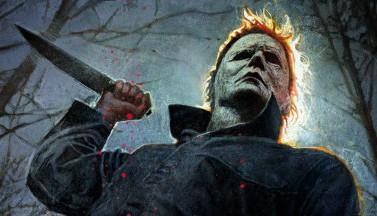 """Майкл Майерс с ножом на съемках """"Хэллоуина"""" (ФОТО)"""