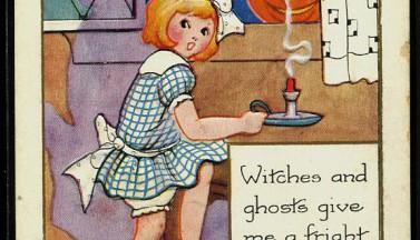 Старая хэллоуиновская открытка