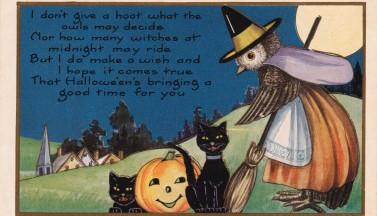 Добрая открытка на Хэллоуин