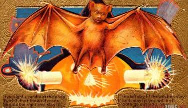 Хэллоуинская летучая мышь
