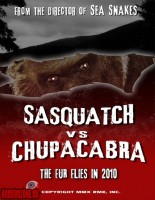 постер SASQUATCH VS CHUPACABRA